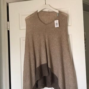 Poncho - pullover, wool-cashmere blend